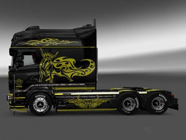 Scania RJL R Longline Paintable Tribull Skin