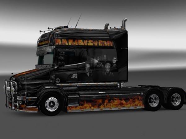 Scania RJL T Longline Rammstein Flame Skin