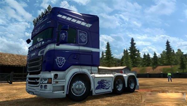 Scania RJL V8 Power Skin