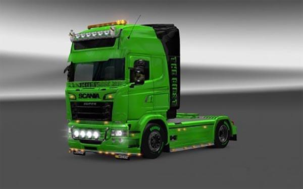 Scania RJL v1.5 HULK Skin for v1.22