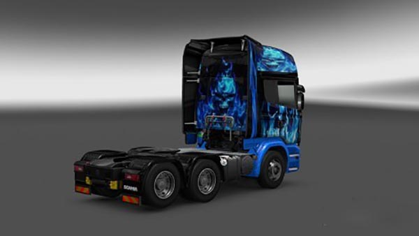 Scania Streamline Blue Flame Skin