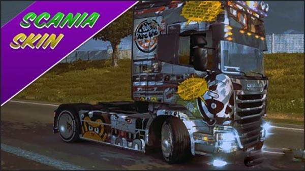 Scania Streamline Comics Skin
