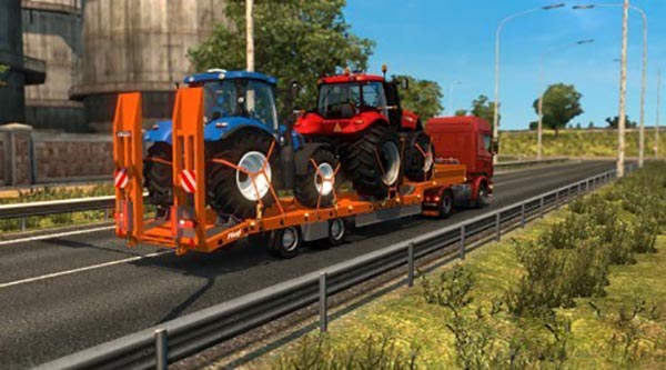 Single Trailer Fliegl New Holland and Case Tractors