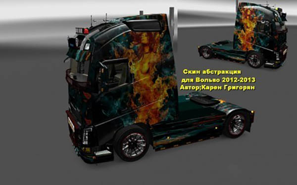 Volvo FH 2013 Fire Girl Skin