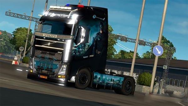 Volvo Fh16 Batman Skin