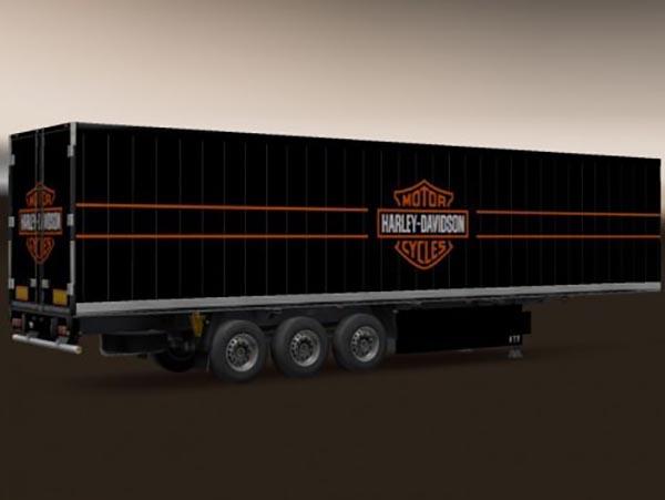 3 Axe Krone Harley Davidson Logo Trailer
