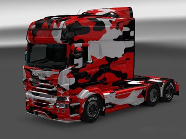 Black Camouflage Skin for RJL SCANIA R Multi