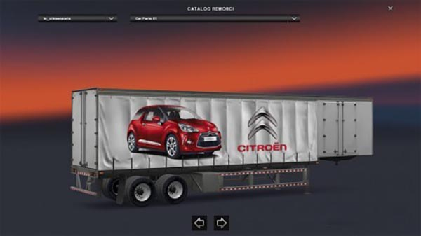 Citroen curtain trailer