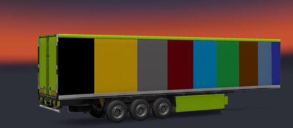 Coloured Trailer Skin