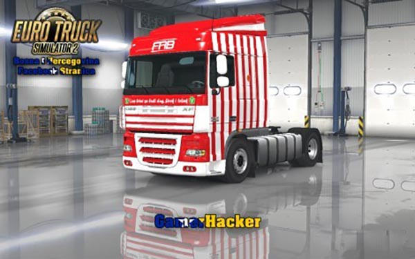 DAF XF FAB Red Skin