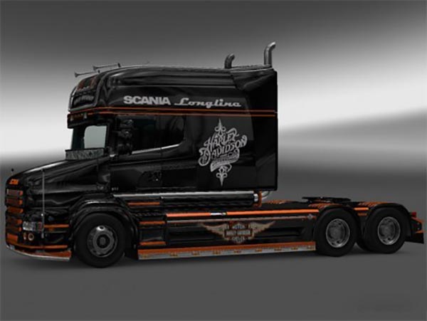 Harley Davidson Skin for RJL SCANIA T Longline