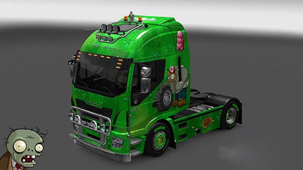 Iveco Hi Way Plants vs Zombies Skin