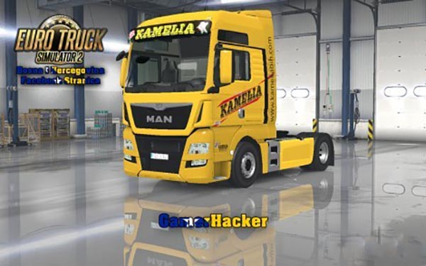 MAN TGX E6 Kamelia Yellow Skin