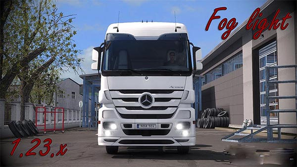 Mercedes Actros MP3 Fog light v1.5