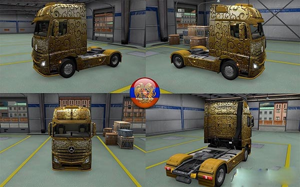 Mercedes Actros MP4 Gold Skin
