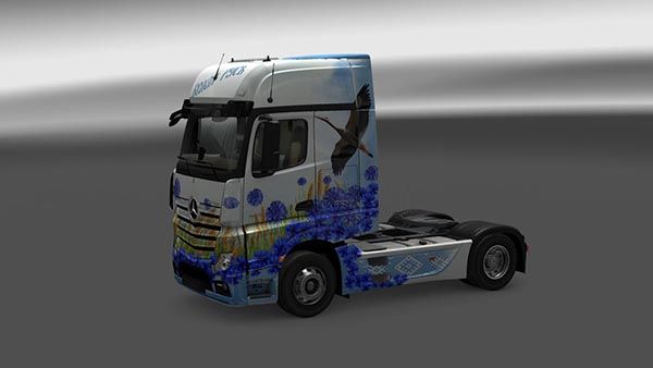 Mercedes Actros MP4 White Russia Skin