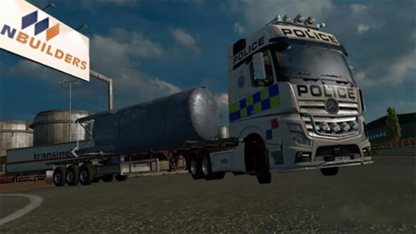 Mercedes-Benz New Actros Police Skin