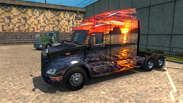 Peterbilt 579 Sunset in California Skin