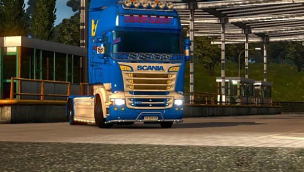Scania RJL Blue Lady Skin