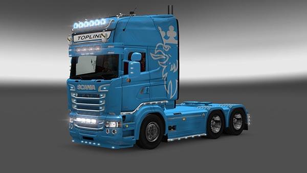 Scania RJL Blue Skin
