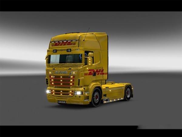 Scania RJL DHL Combo Skin Packs
