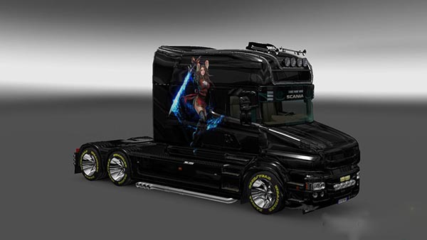Scania T Longline Warrior Skin
