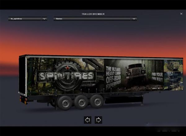 SpinTires Trailer Skin