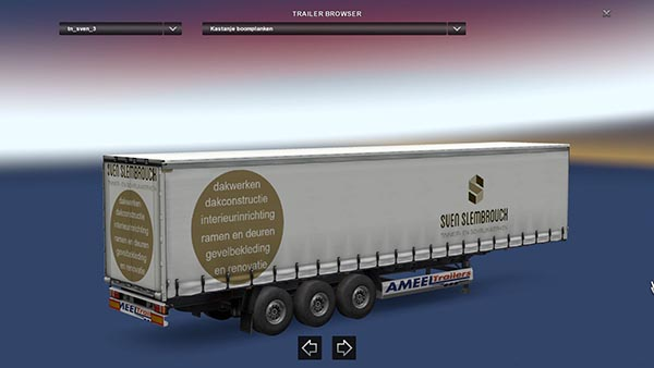 Sven Slembrouck Chestnut Wood Trailer