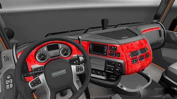DAF XF Euro 6 Red Interior