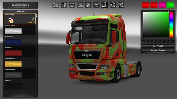 MAN TGX Mask Skin Paintable