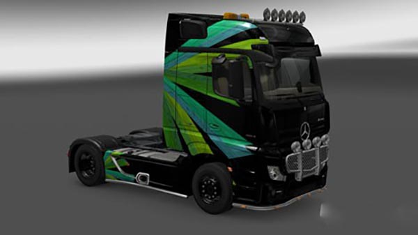 Merc Actros 2014 Abstract Livery v1