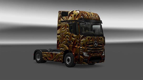 Mercedes Actros MP4 Dark Gold Skin