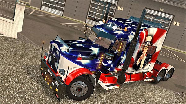 Peterbilt 389 USA Flag Skin
