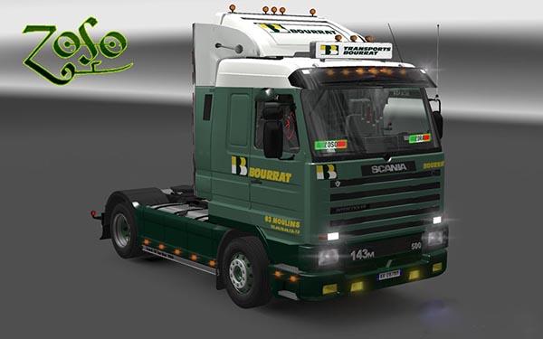 Scania 143m Transports Bourrat Skin
