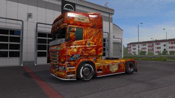 Scania RJL Herpa Monument Truck Skin