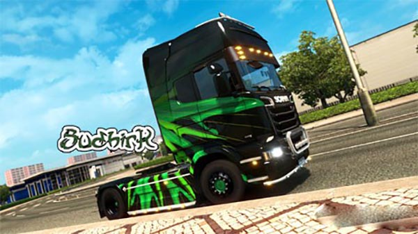 Scania Streamline Abstract Design Livery Skin v 1.0