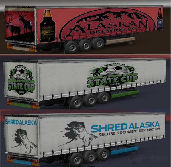 Alaska Curtainside Trailers