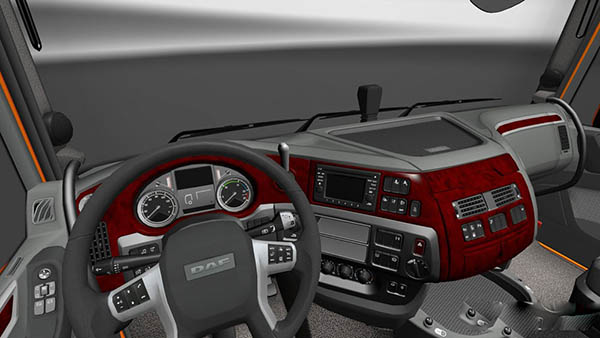 DAF XF Euro 6 Red Wood Interior