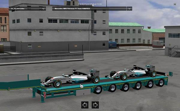 Mercedes AMG Petronas Formula One Team Trailer v 1.2