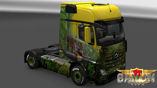 Mercedes Benz New Actros Tiger skin