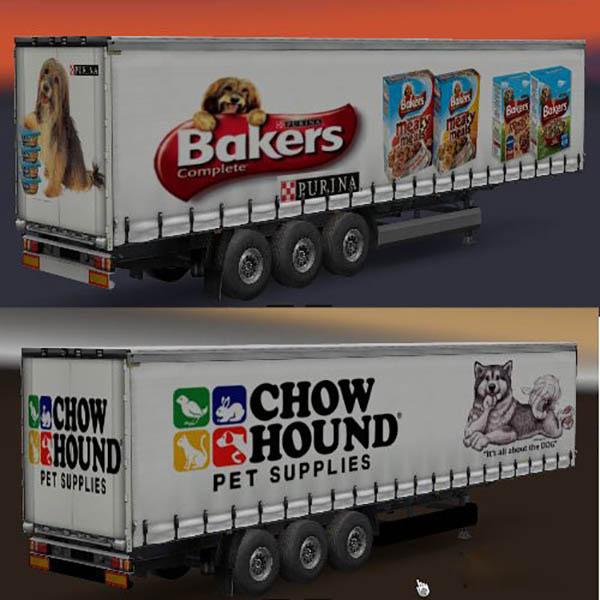 Pet Food Curtainside Trailers