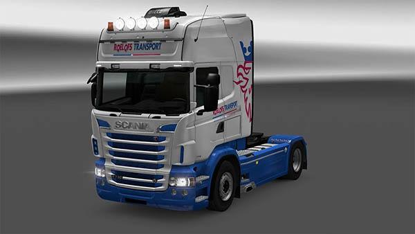 Roelofs Transport skin for Scania RJL Topline