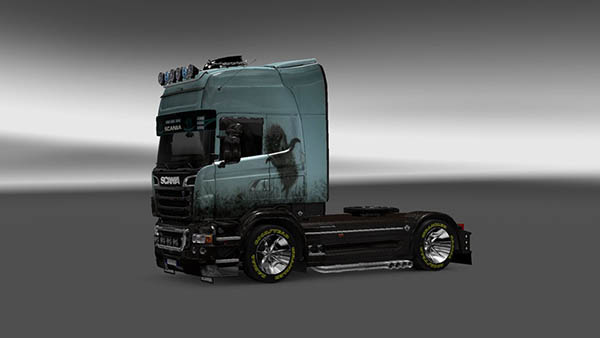 Scania R 2009 Hedgehog in the Fog Skin