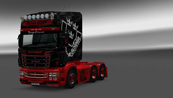 Scania RJL Black Queen Skin