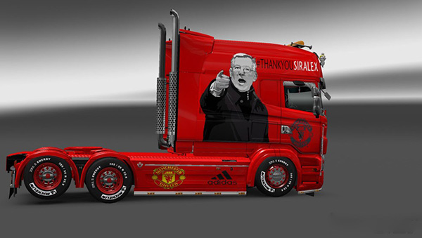Scania RJL Longline Manchester United Skin