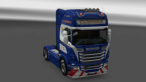 Scania R&S Topline C.F.Jennings Skin