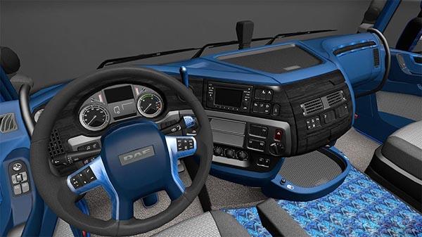 DAF E6 Black Blue Interior