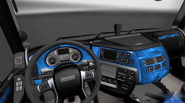 DAF E6 Blue Aluminium Interior