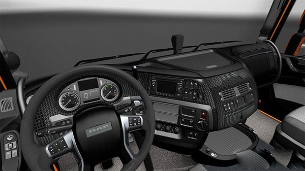 DAF E6 Carbon Black Interior