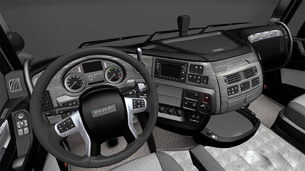 DAF E6 Grey Black Interior